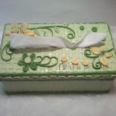Kotak tisu unik kerajinan tangan dari kertas koran